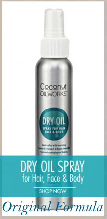 original formula coconut oil skin care spray